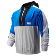 New Balance NB Athletics Windbreaker, Vivid Cobalt with Summer Fog & White