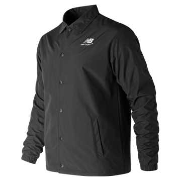 New Balance Classic Coaches Stacked Jacket, Black