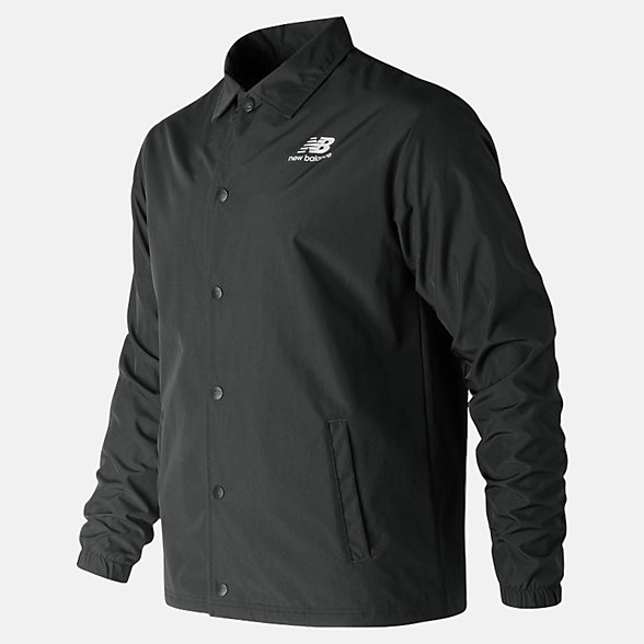New Balance Classic Coaches Stacked Jacket, MJ91521BK