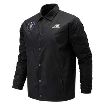 New Balance NYC Marathon Classic Coaches Stacked Jacket, Black