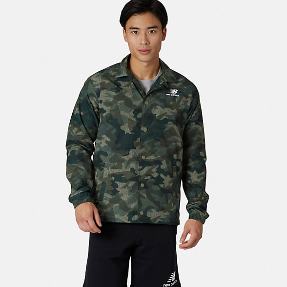 New Balance Classic Coaches Stacked Jacket, MJ91521MGN