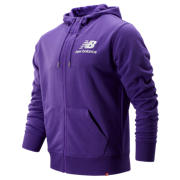 NB Essentials Stacked Logo Full Zip Hoodie, Prism Purple