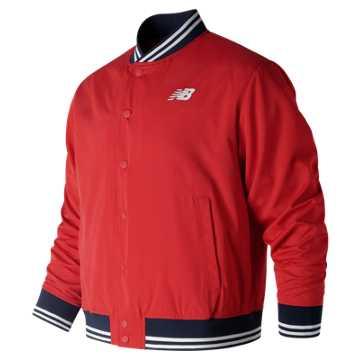 New Balance Essentials Stadium Jacket, Team Red Inline