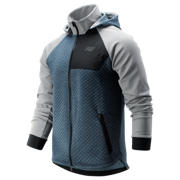 New Balance NB Heat Loft Full Zip Hooded Jacket, Athletic Grey