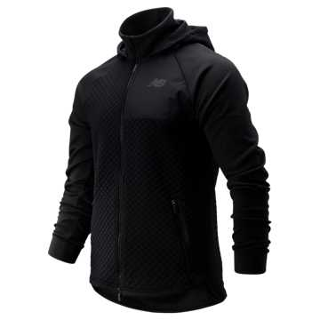 New Balance NB Heat Loft Full Zip Hooded Jacket, Black
