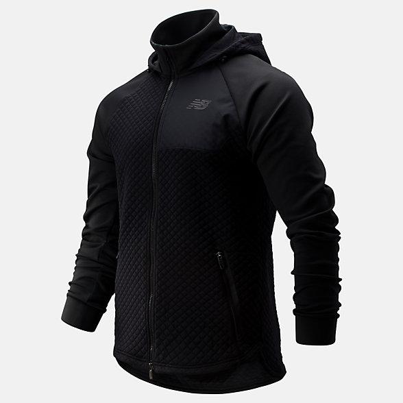 NB NB Heat Loft Full Zip Hooded Jacket, MJ93001BK