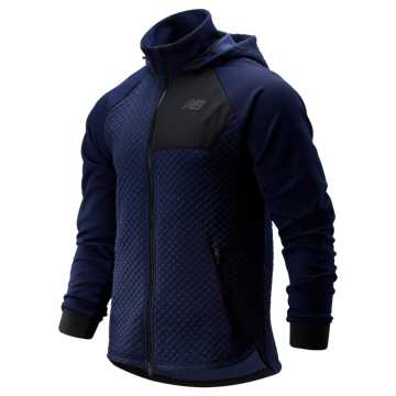 New Balance NB Heat Loft Full Zip Hooded Jacket, Pigment