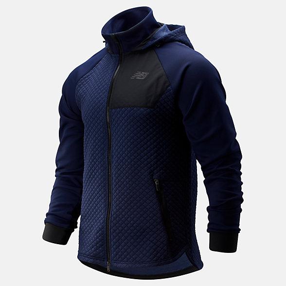 New Balance NB Heat Loft Full Zip Hooded Jacket, MJ93001PGM