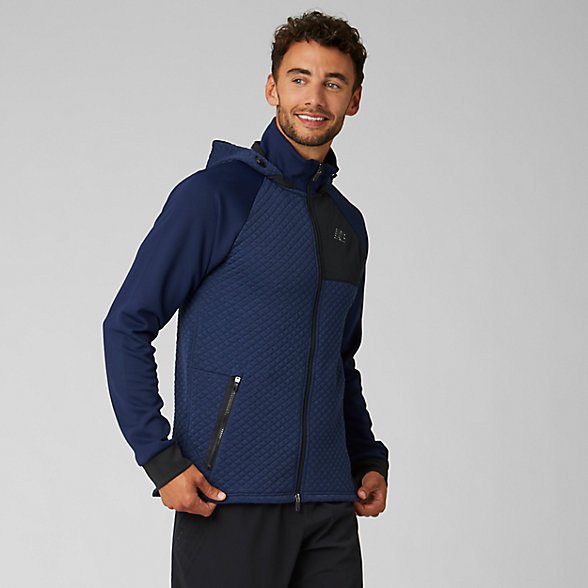 New Balance NB Heat Loft Full Zip Hooded Jacket, MJ93001PGM