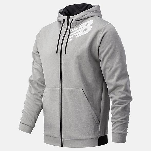 New Balance Tenacity Fleece Full Zip Hoodie, MJ93020AG