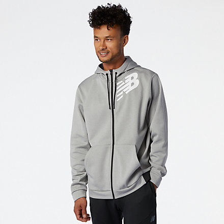 New Balance Tenacity Fleece Full Zip Hoodie, MJ93020AG image number null