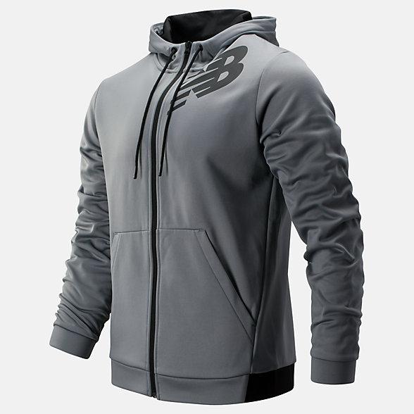 New Balance Tenacity Fleece Full Zip Hoodie, MJ93020GNM