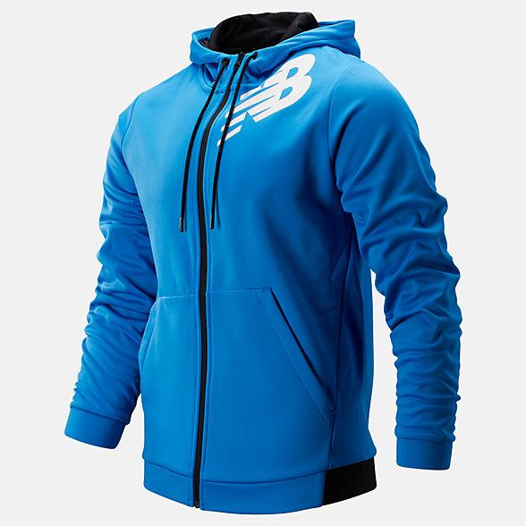 New Balance Tenacity Fleece Full Zip Hoodie, MJ93020LBE