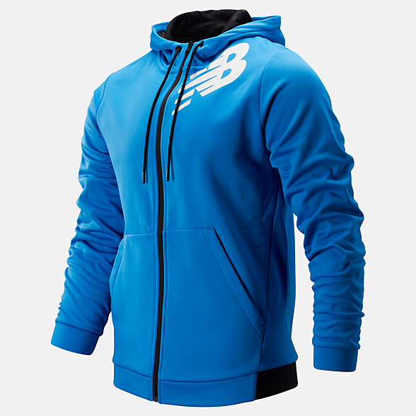 New Balance Tenacity Fleece Full Zip Hoodie, MJ93020LBE
