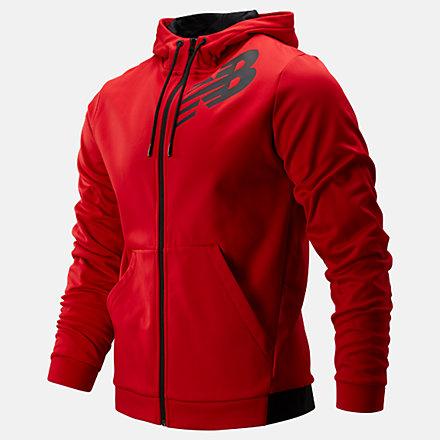 New Balance Tenacity Fleece Full Zip Hoodie, MJ93020REP image number null