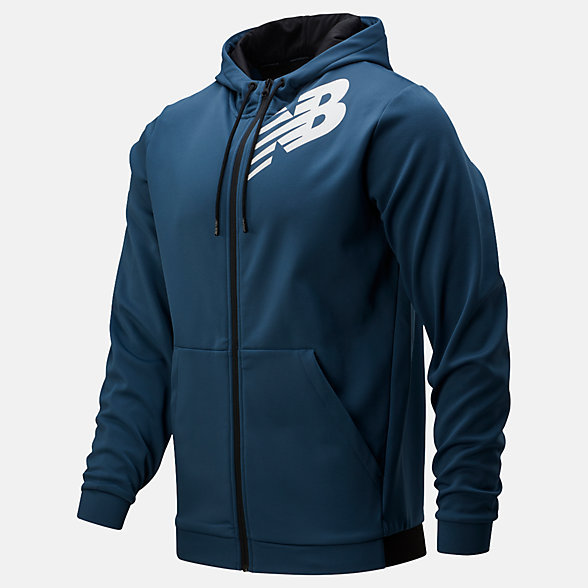 New Balance Tenacity Fleece Full Zip Hoodie, MJ93020SNB