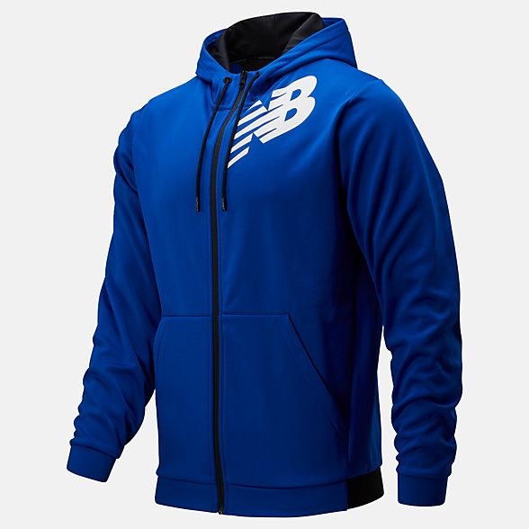 New Balance Tenacity Fleece Full Zip Hoodie, MJ93020TRY