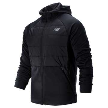 New Balance Tenacity Hybrid Puffer Jacket, Black