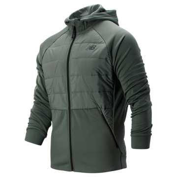 New Balance Tenacity Hybrid Puffer Jacket, Slate Green