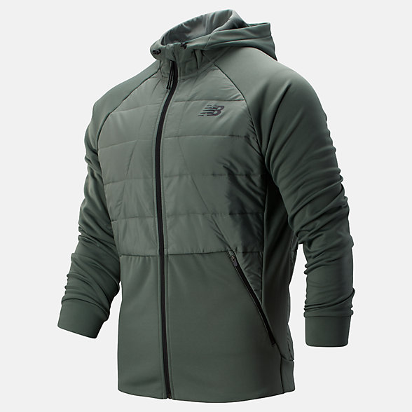 New Balance Tenacity Hybrid Puffer Jacket, MJ93025SLG