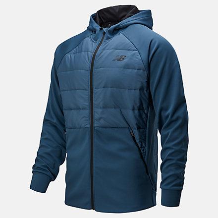 New Balance Tenacity Hybrid Puffer Jacket, MJ93025SNB image number null