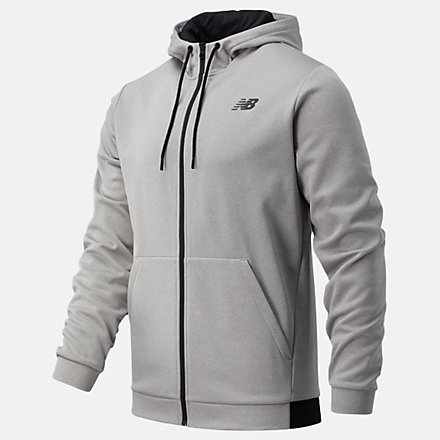 NB Tenacity Fleece Full Zip Hoodie, MJ93070AG image number null