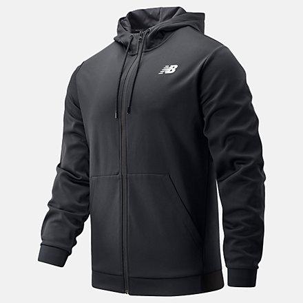 NB Sweats à capuche Tenacity Fleece Full Zip, MJ93070BK image number null