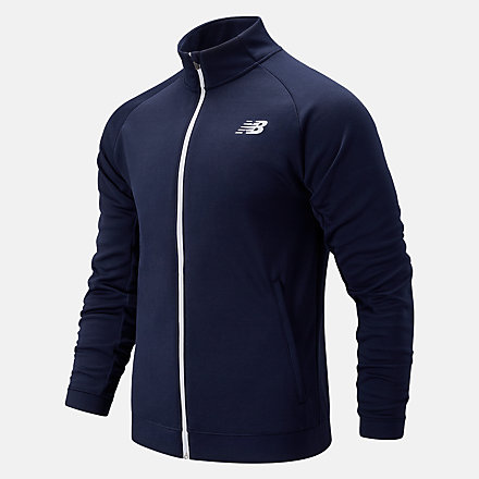 New Balance Tenacity Knit Jacket, MJ93090ECL image number null