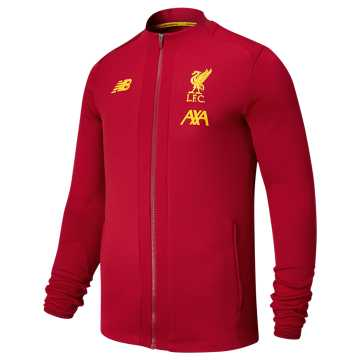 New Balance Liverpool FC Game Jacket, Red Pepper with Yellow