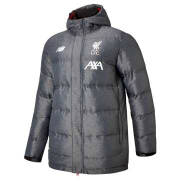 New Balance Liverpool FC Manager Jacket, Black Marl