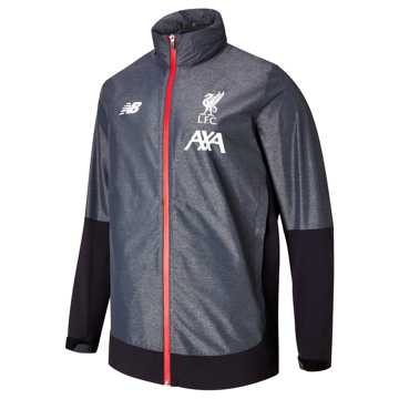 New Balance Liverpool FC Managers Rain Jacket, Black