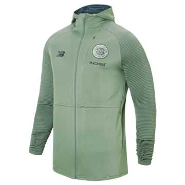 New Balance Celtic FC Travel Full Zip Hoodie, Agave Green