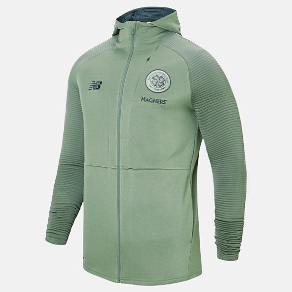 New Balance Celtic FC Travel Full Zip Hoodie, MJ931115AEG