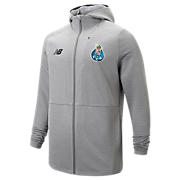 NB FC Porto Travel Full Zip Hoody, Grey Marl