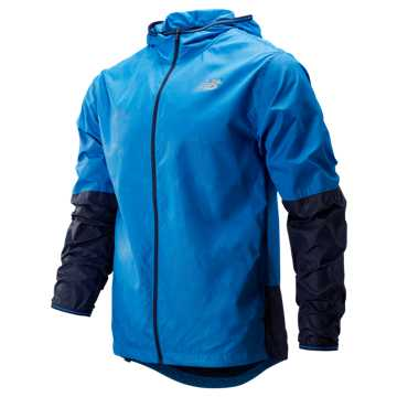 New Balance Velocity Jacket, Lapis Blue with Pigment