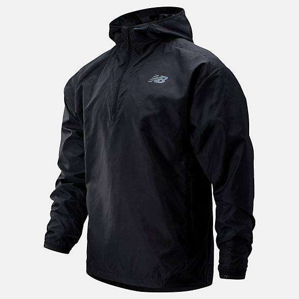 New Balance Q Speed Run Crew Jacket, MJ93274BK