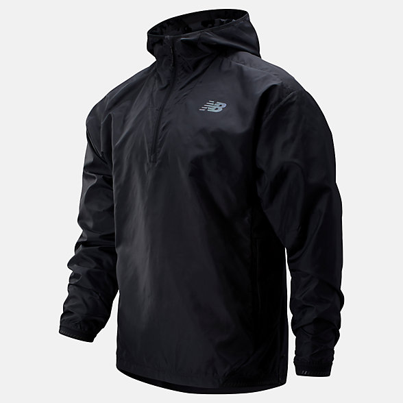 New Balance Q Speed Run Crew Jacket, MJ93274BK