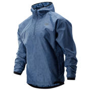 New Balance Q Speed Run Crew Jacket, Chambray