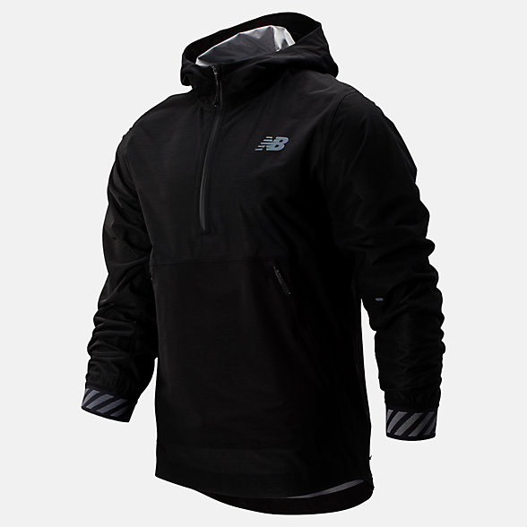 New Balance Q Speed Waterproof Jacket, MJ93275BK