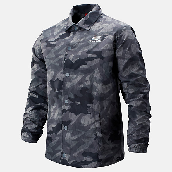 New Balance Printed Classic Coaches Stacked Jacket, MJ93553GNM