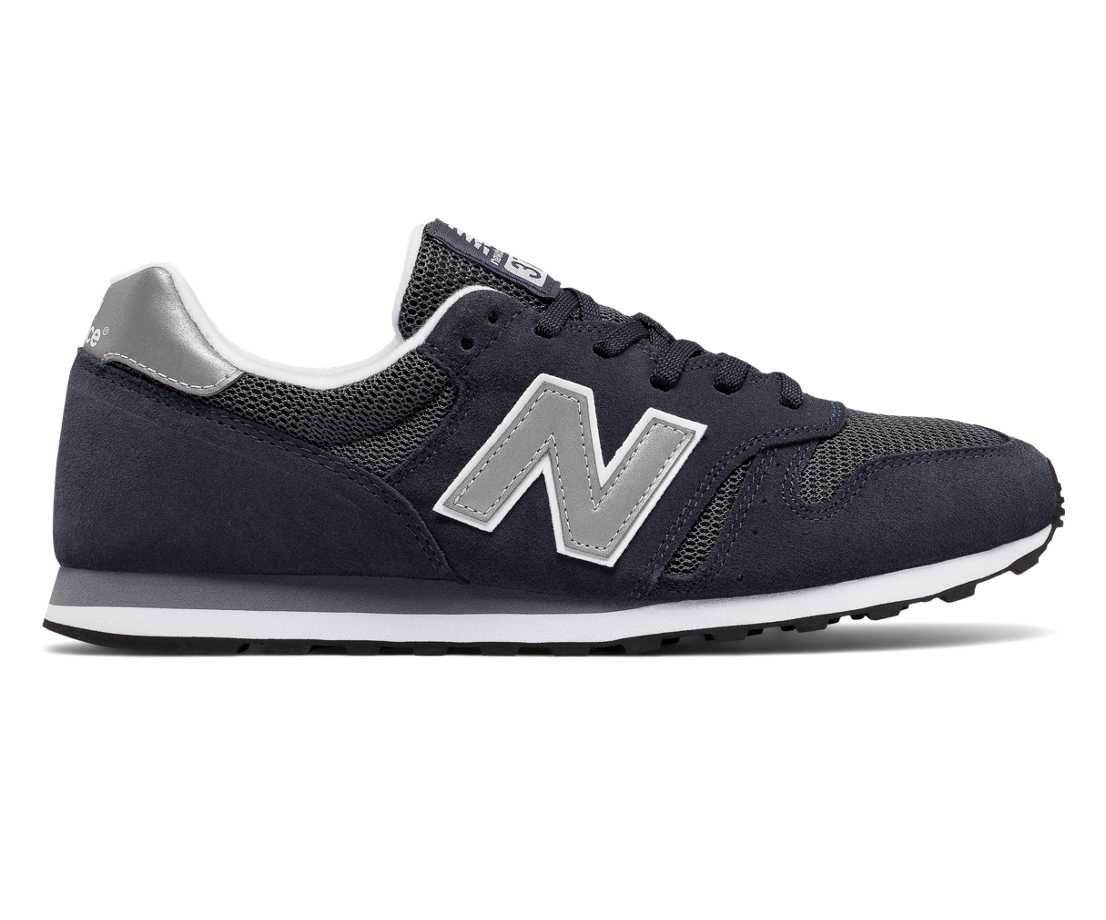 NB 373 Modern Classics, Navy with Silver