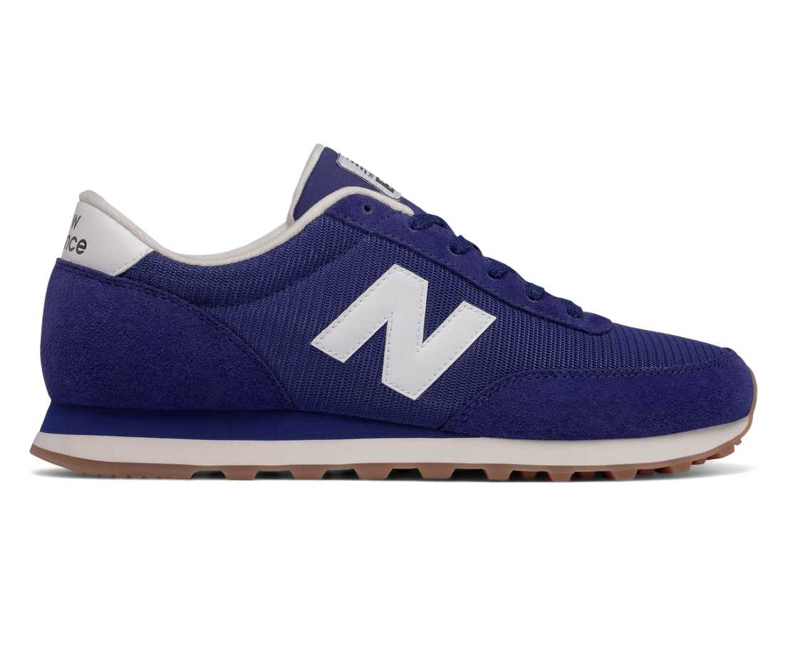 NB 501 New Balance, Navy with White