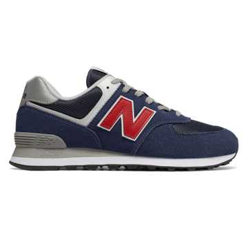 New Balance 574, Blue with Red
