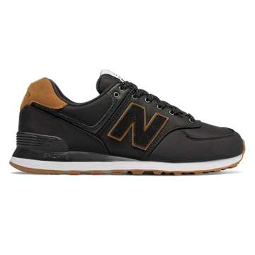 New Balance 574, Black with Brown Sugar