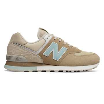 New Balance 574 Retro Surf, Hemp with Incense & Agave Green