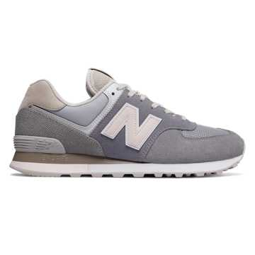 New Balance 574 Retro Surf, Gunmetal with Pink