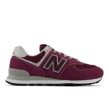New Balance Men's 574, Burgundy