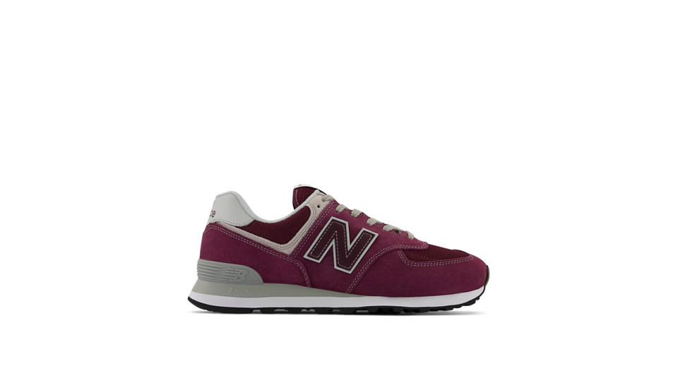 Buy 163580 New Balance Classics M574 Men Burgundy Shoes