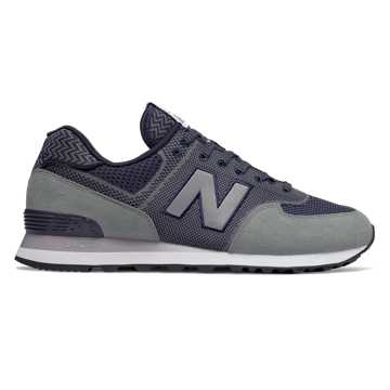 New Balance 574 Engineered Mesh, Gunmetal with Pigment
