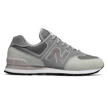 New Balance 574 Engineered Mesh, Silver Mink with Gunmetal